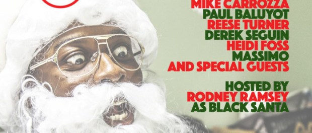 Rodney Ramsey Christmas Special at Comedyworks poster.