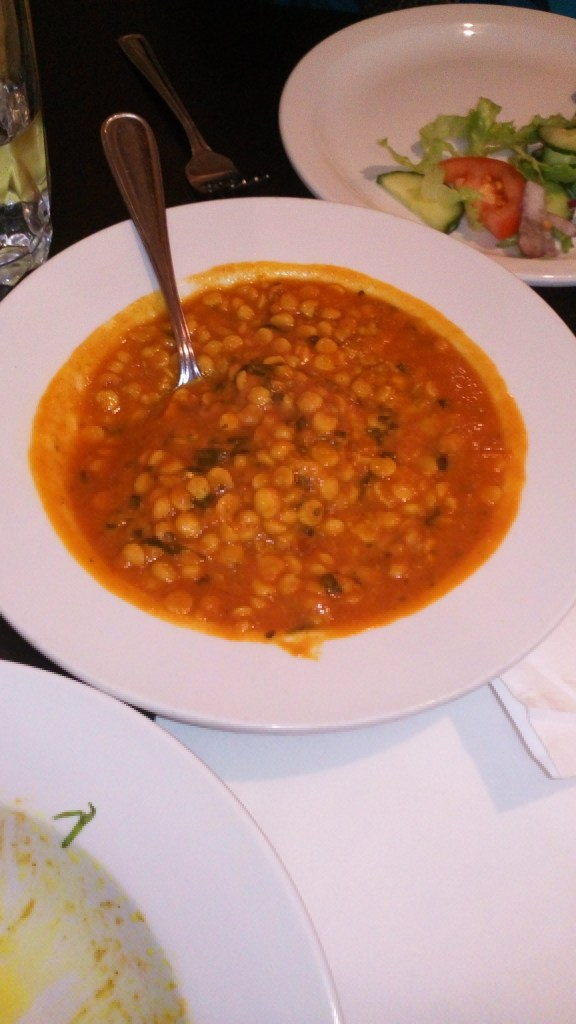Daal Channa gramme du Bengale. Photo Esther Szeben. Sana Restaurant.