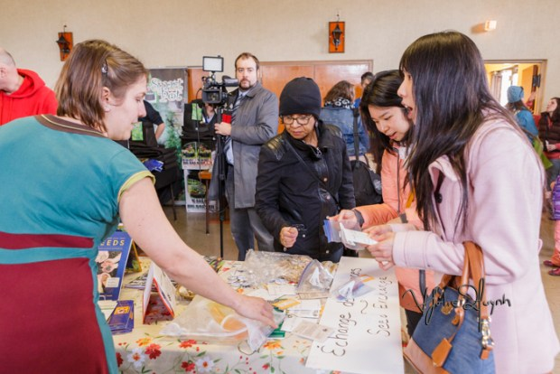 Seed Exchange. Seedy Saturday. Photo Lily Huynh.
