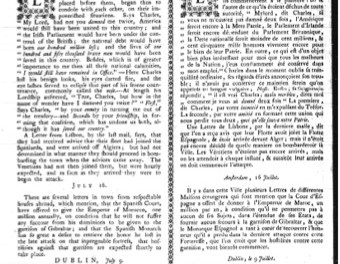 Montreal Gazette 1785