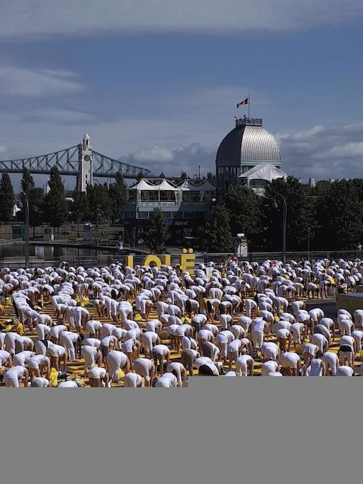 Lole White Yoga event. Montreal Old Port. Photo Erika Kindsfather.