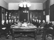 The Duplessis cabinet, 1936. Maurice Duplessis would serve four more terms as Premier of Québec.