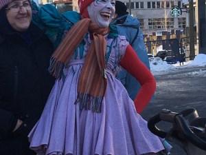 Clowns. Montréal en lumière Festival. Photo Rachel Levine