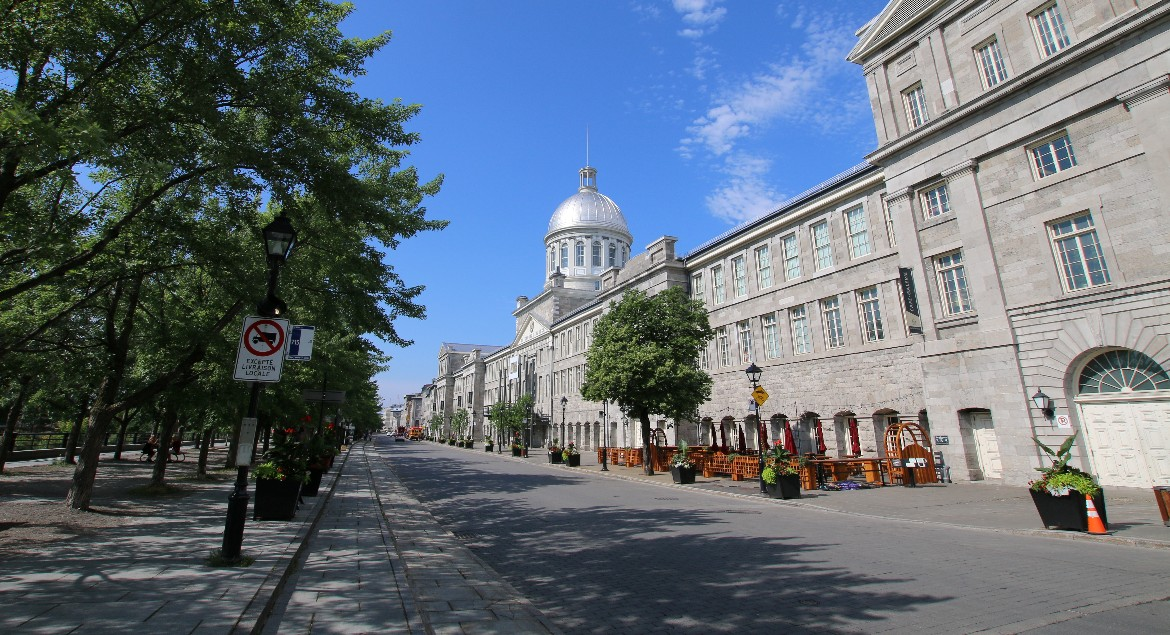 Old Montreal Near Old Port