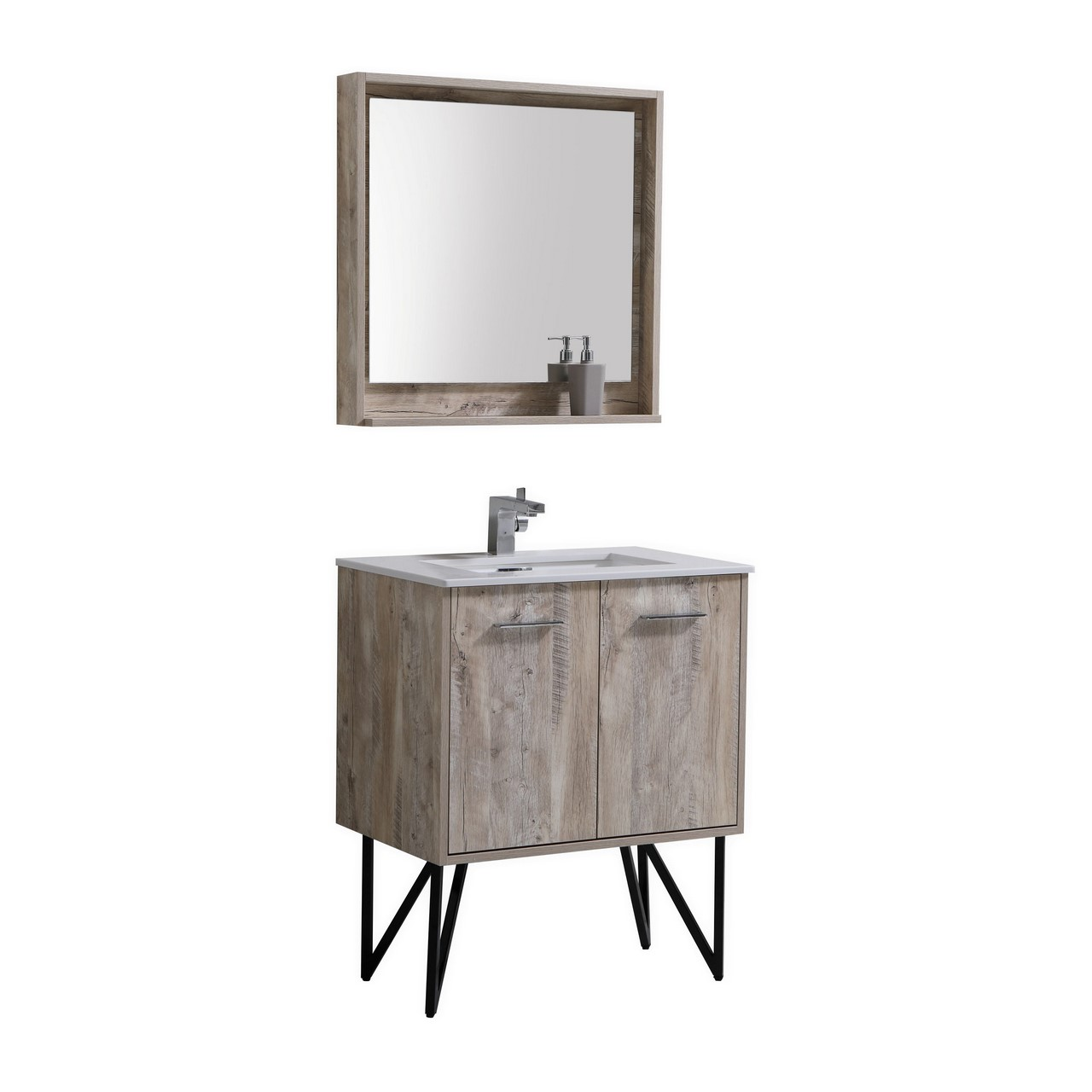 Forest 30 Modern Bathroom Vanity W Quartz Countertop And