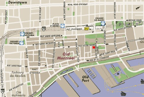 Path Decorations Pictures Map Montreal Downtown Full Path Decoration - Old montreal map