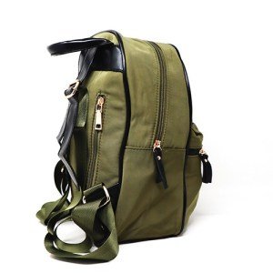 mochila de nylon verde militar