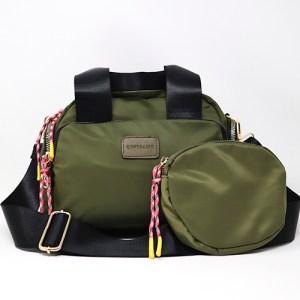 Compra el look: Bolso+cartera verde khaki