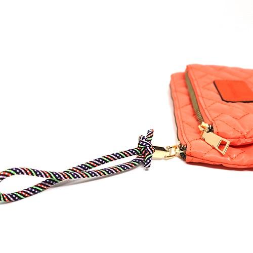Cartera/neceser shiny Naranja