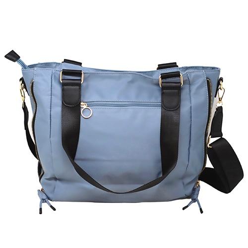 Shopper nylon azul rejilla