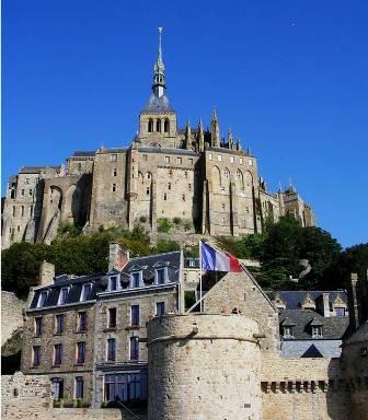 Abbaye du Mont-Saint-Michel inscrit au patrimoine mondial de l'UNESCO