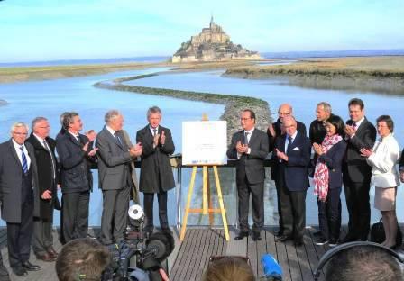 Inauguration du Rétablissement du Caractère Maritime du Mont-Saint-Michel