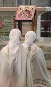 Fraternités Monastiques adoration des soeurs Mont-Saint-Michel