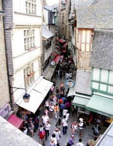 Rue principale Mont-Saint-Michel