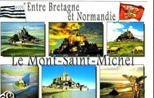 Le Mont-Saint-Michel etre Bretagne et Normandie
