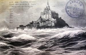 Tempête au Mont-Saint-Michel