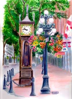 Rellotje de Vapor, Gastown, Vancouver, British Columbia (Canadà). | Reloj de Vapor, Gastown, Vancouver, British Columbia (Canadá). | Steam Clock, Gastown, Vancouver, British Columbia (Canada).