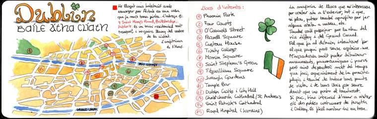 Mapa de Dublín. | Dublin Map.