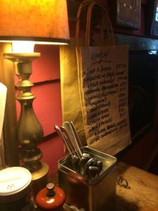 Cosy dining corner at Cliffy's Emporium, Daylesford