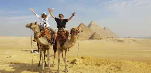 Great Pymarid camel ride