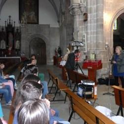 Soraya Armesto presentando os traballos do CEIP A Mercé