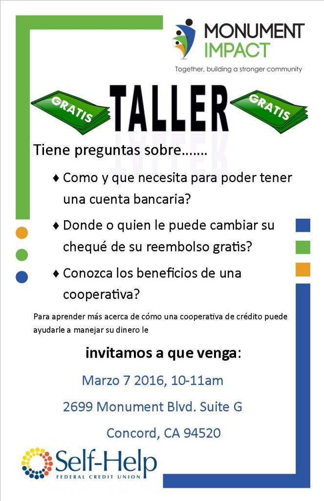 Taller Self Help Credit Union_03-07-16