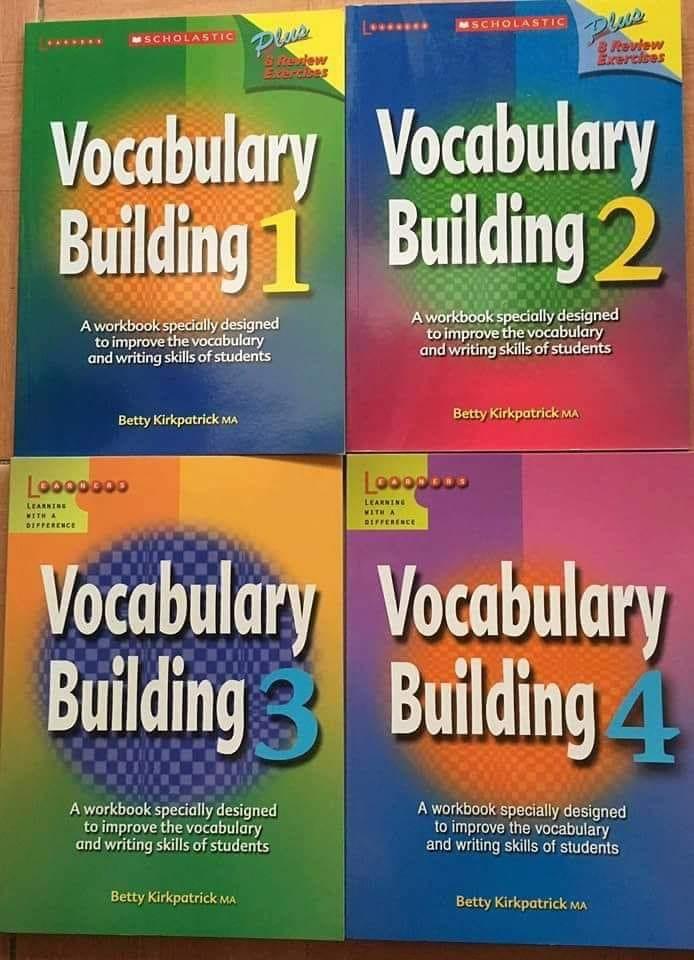 كورس ال Vocabulary العملاق 4 مستويات ب 4 كتب مختلفة Vocabulary Building