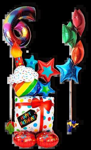 Mega Bouquet de Globos HB Gift & Cupcake