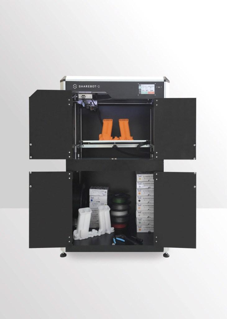 sharebot q stampante 3d grande formato 3d store monza