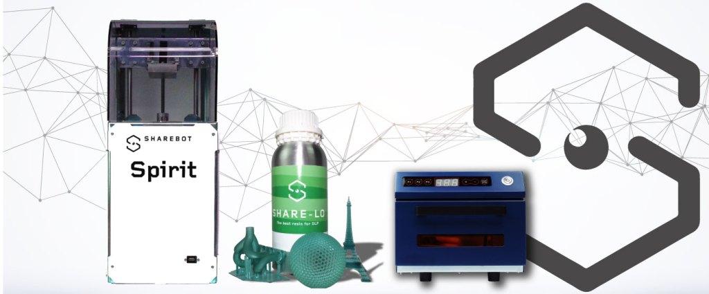 sharebot spirit stampante 3d dlp 3d store monza