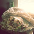 wrap a bouquet in a scarf