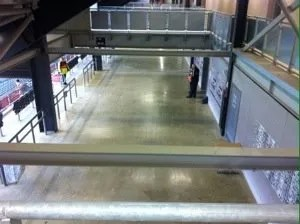 Looking down on the concourse