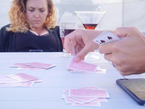 Espresso martinis and cards