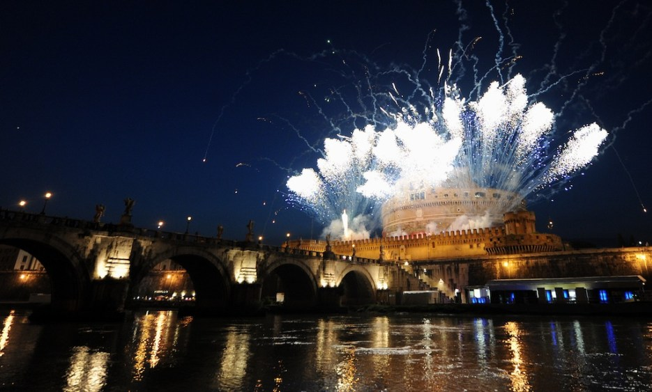 Catherine wheel at Castel Sant'Angelo