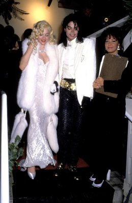 1991 Madonna and Michael Jackson at 63rd Annual Academy Awards - After Party at Spago's Hosted by Swifty Lazar (Photo by Ron Galella/WireImage)