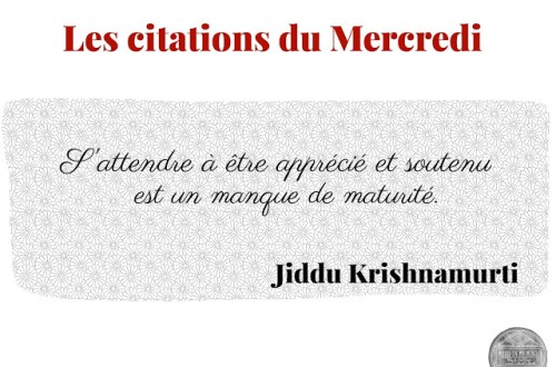 Citation jiddu krishnamurti