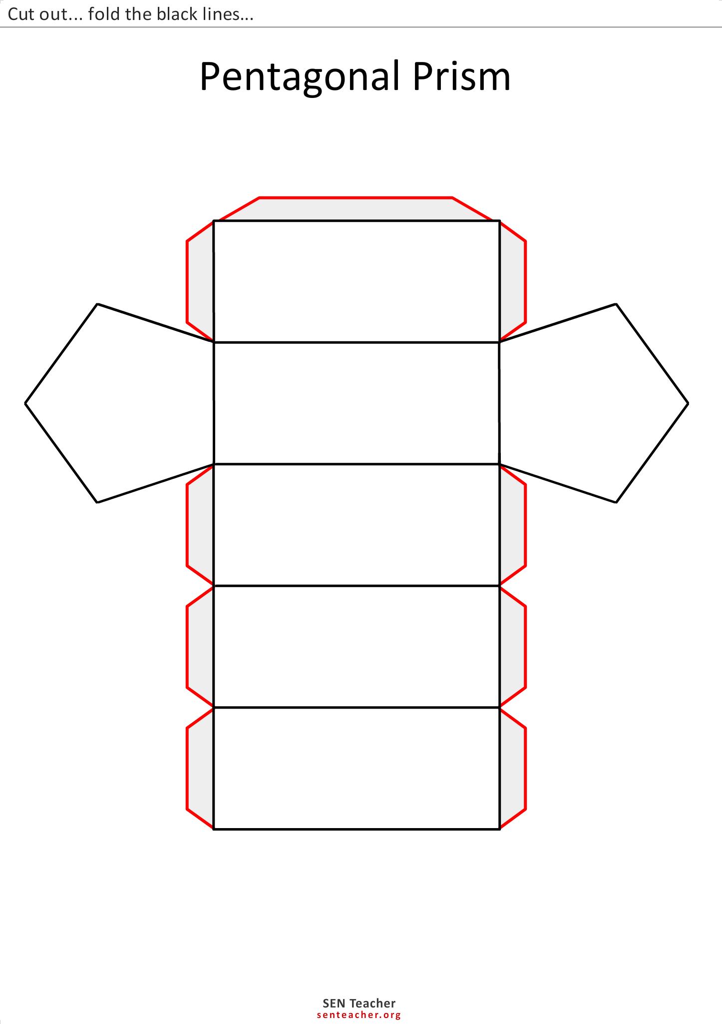 Geo Luriemst Net Pentagonal Prism