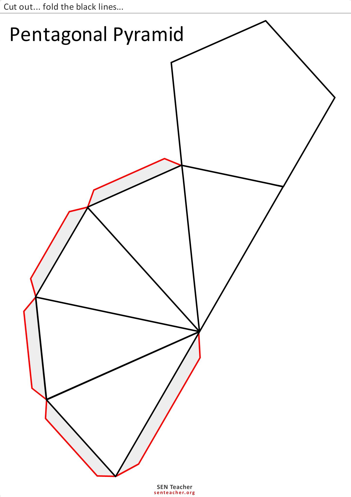 Geo Luriemst Net Pentagonal Pyramid