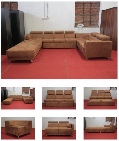 mood of wood c shaped sofa set