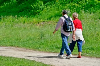 It's great to get chatting with family and friends. Going on a regular walk improves communication too!