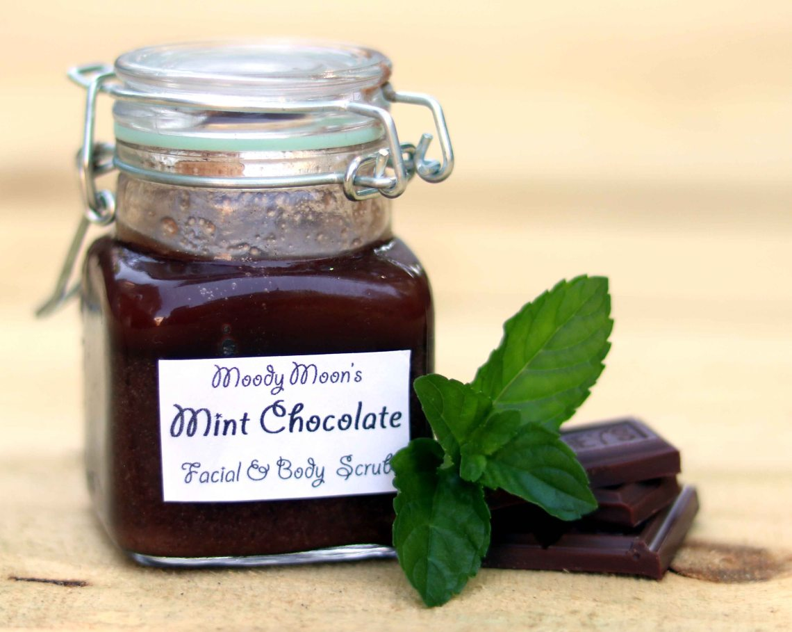mint chocolate facial scrub