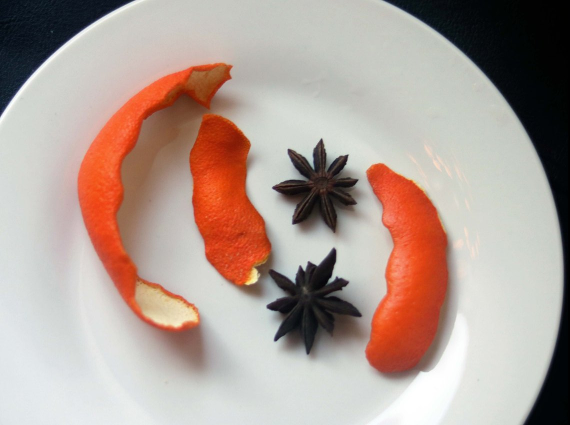 orange peel and star anise