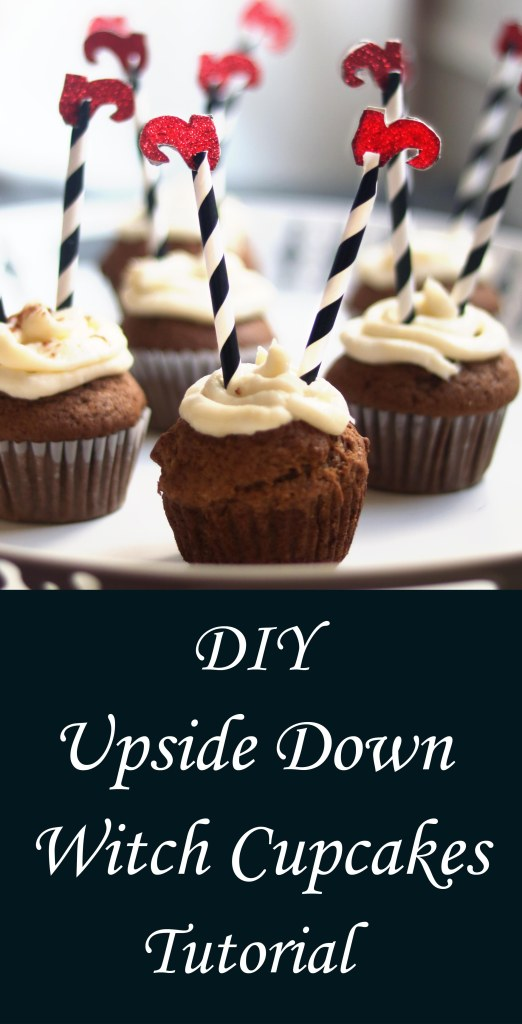 DIY upside down witch cupcakes tutorial.