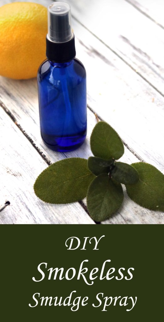 Recipe for smokeless smudging spray.  Perfect for people with asthma, living in dorms or on the road!