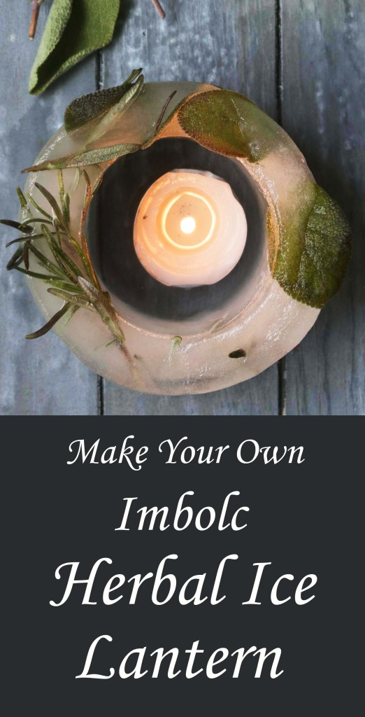 For a fun (practically) free Imbolc craft, try this tutorial for making your own herbal ice lanern.