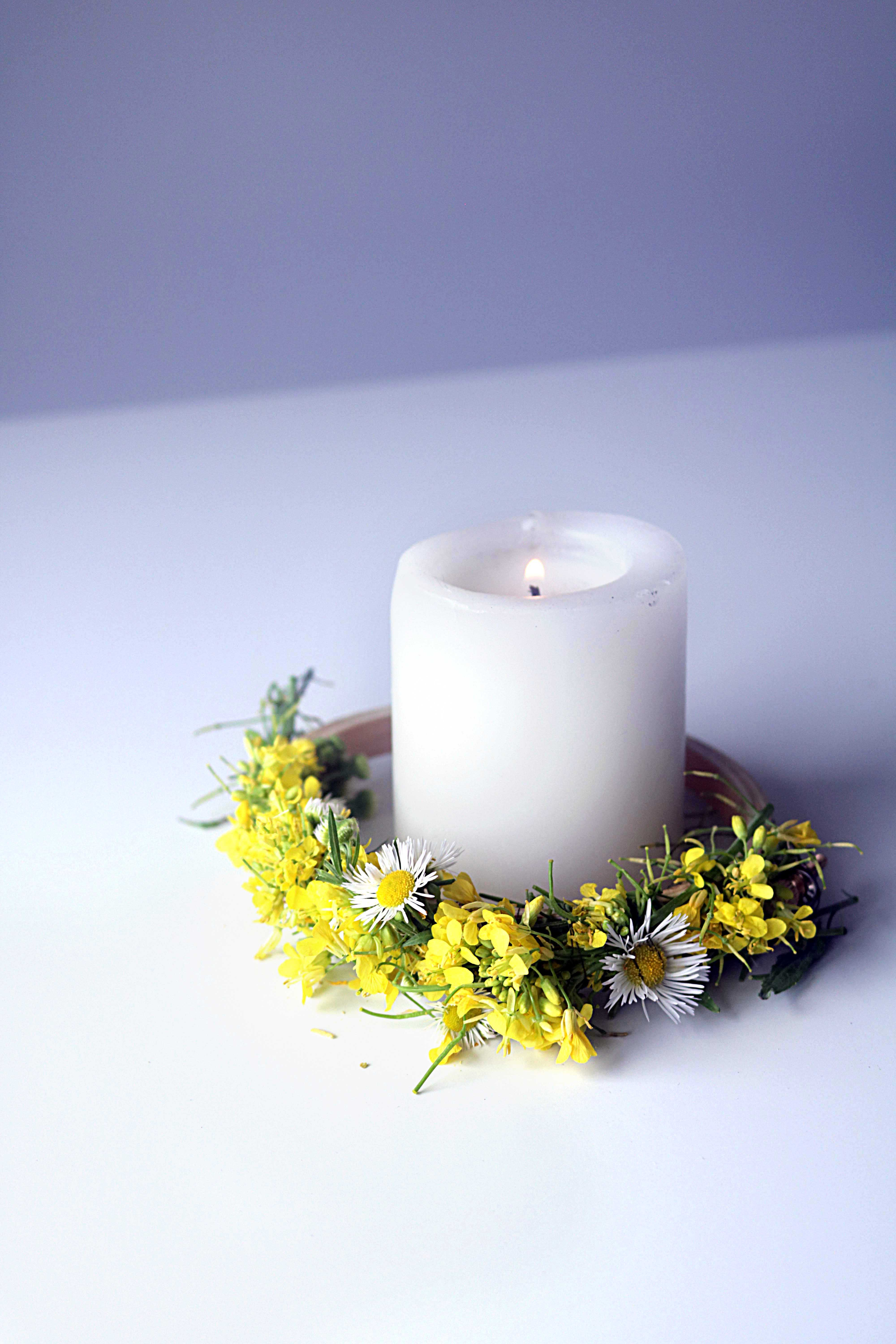 Simple ideas to use a white candle in witchcraft, magic and spells.