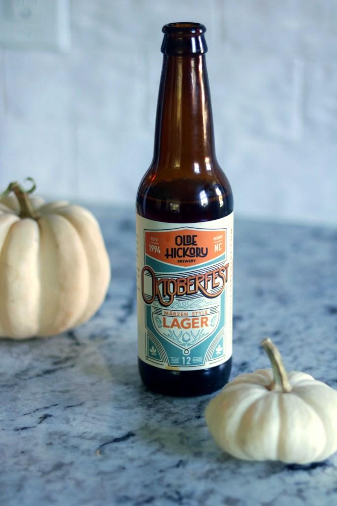 Okotberfest lagar--a perfect ingredient for slow-brewed Stroganoff.