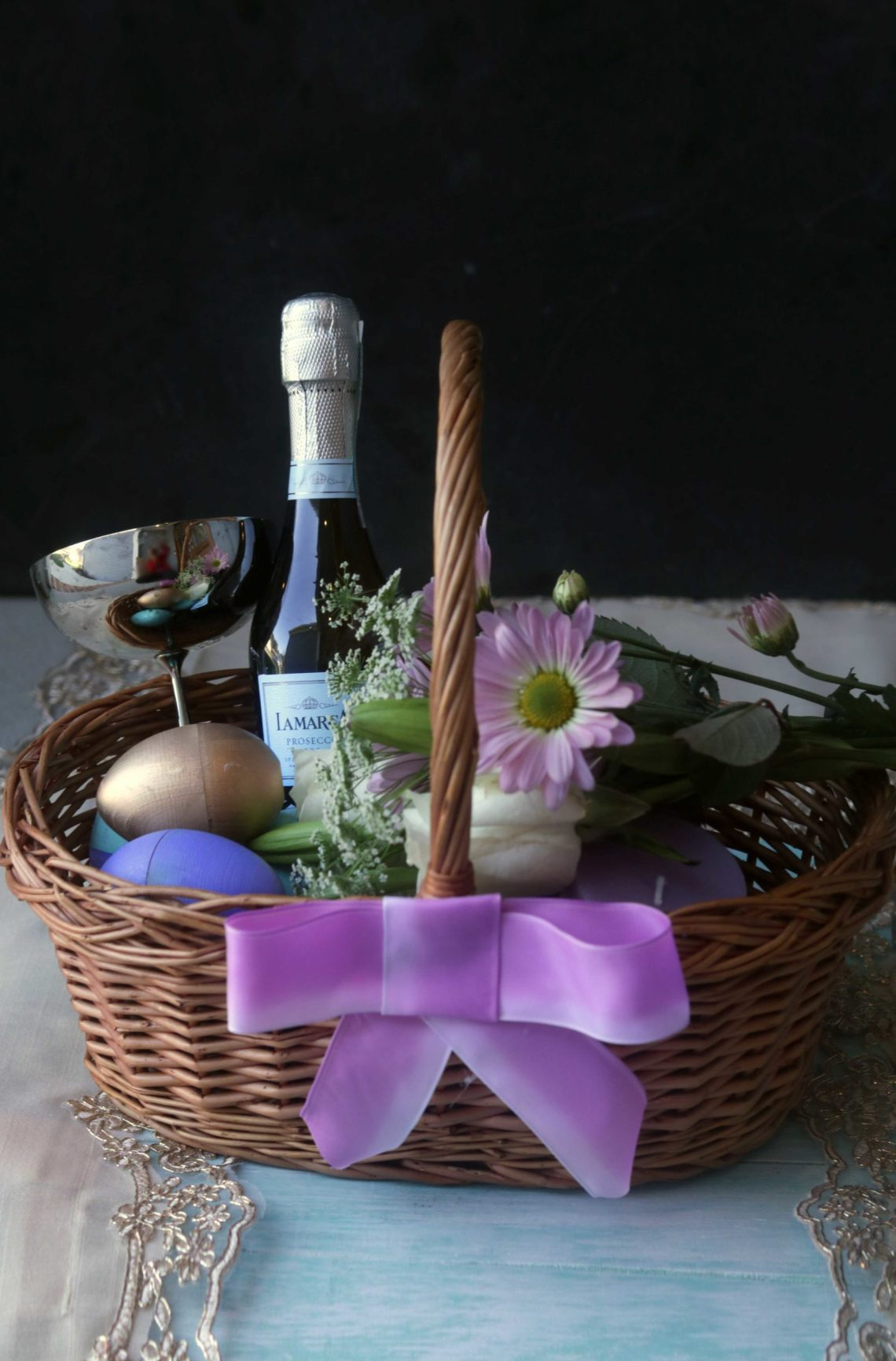 How to create a beautiful, elegant Ostara basket for the Spring Equinox.
