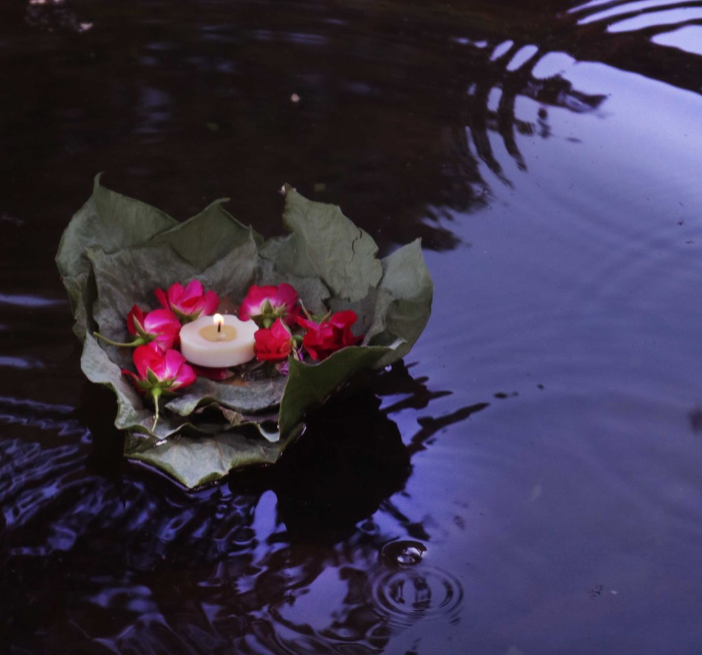 DIY Litha candle float wishing spell for Midsummer.