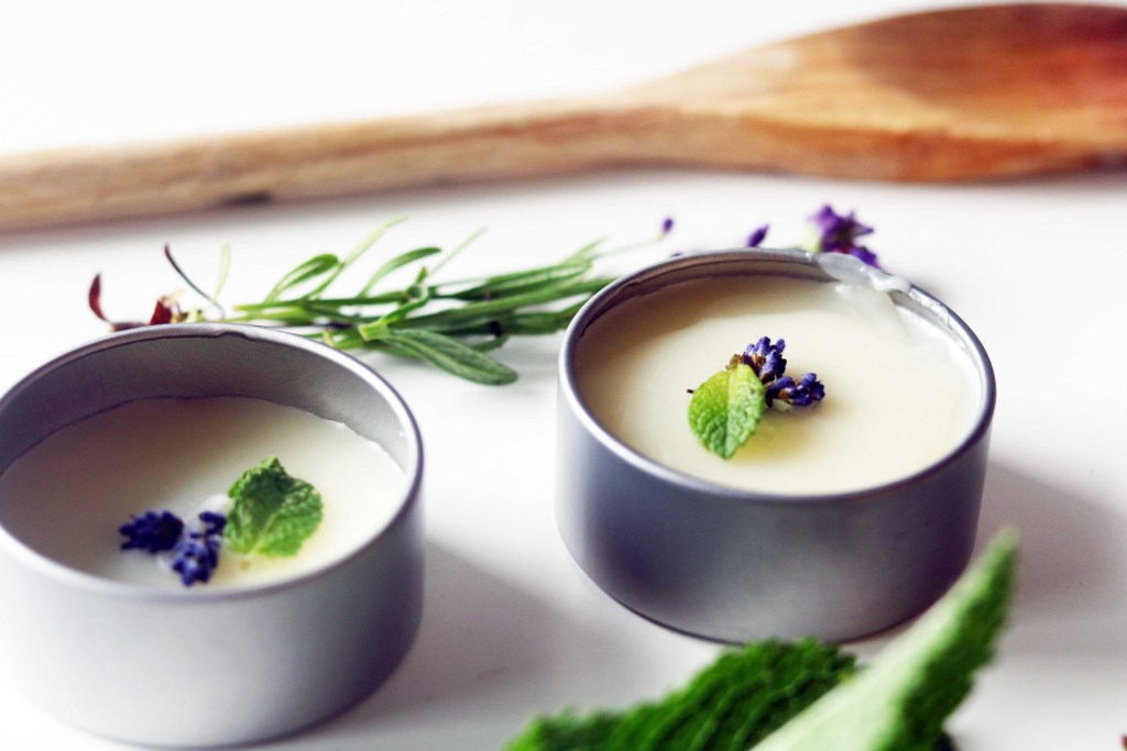 Creamy lavender and mint dream salve. A luxurious DIY treat for a good night's sleep!